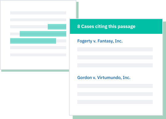 Cited passages — and cases with similar passages