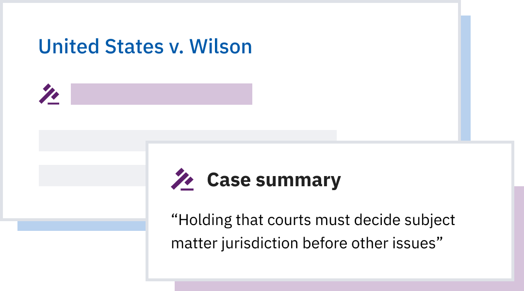 Case summaries by judges